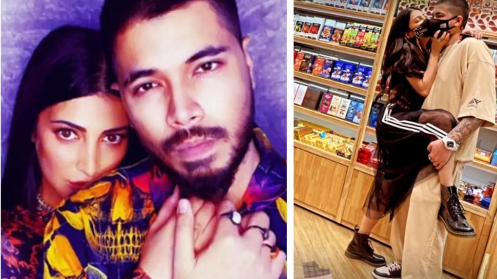 Shruti Haasan Kissed Her Boyfriend in public place |  Shruti Haasan kisses her boyfriend openly, romantic while shopping