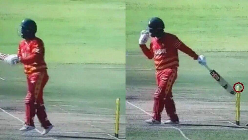 VIDEO: इस बल्लेबाज ने खुद अपने पैरों पर मारी कुल्हाड़ी, बेवकूफी में फेंक दिया विकेट