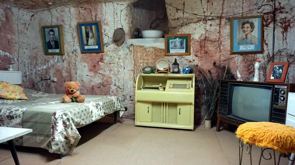 Underground village built in a mine