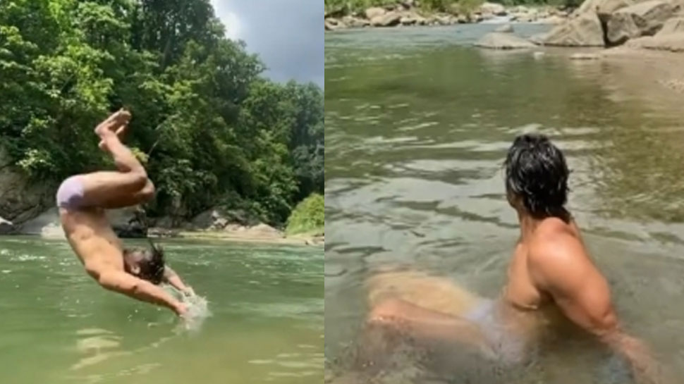 Harshvardhan Rane followed the path of Milind Soman, girls will become crazy after seeing VIDEO |  This actor walked the path of Milind Soman, girls will become crazy after seeing VIDEO