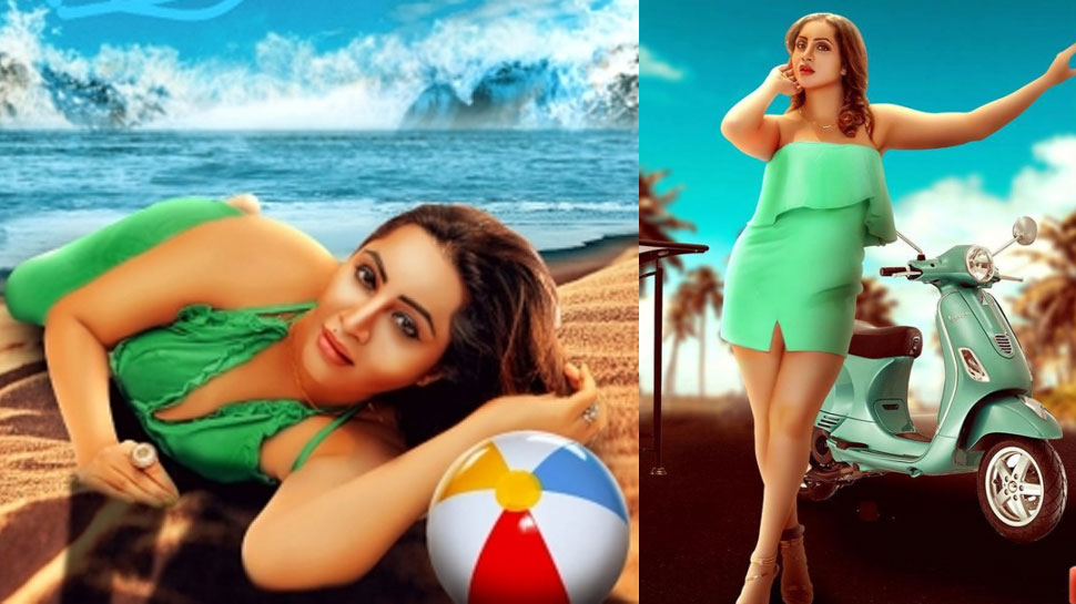Arshi Khan made a splash with the look of Punjabi song Book Likhda |  Arshi Khan made a splash with the look of the song 'Book Likhda', fans said – 'Barbie Doll'
