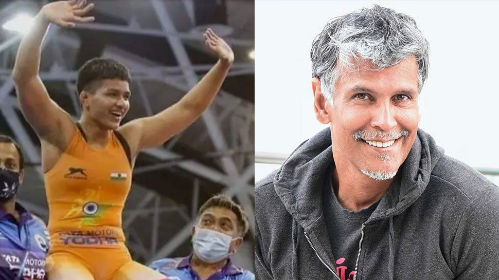 Milind Soman congratulates Priya Malik on winning the gold medal in the Olympics, gets trolled |  Milind Soman congratulated Priya Malik, trolled fiercely;  heart winning answer given