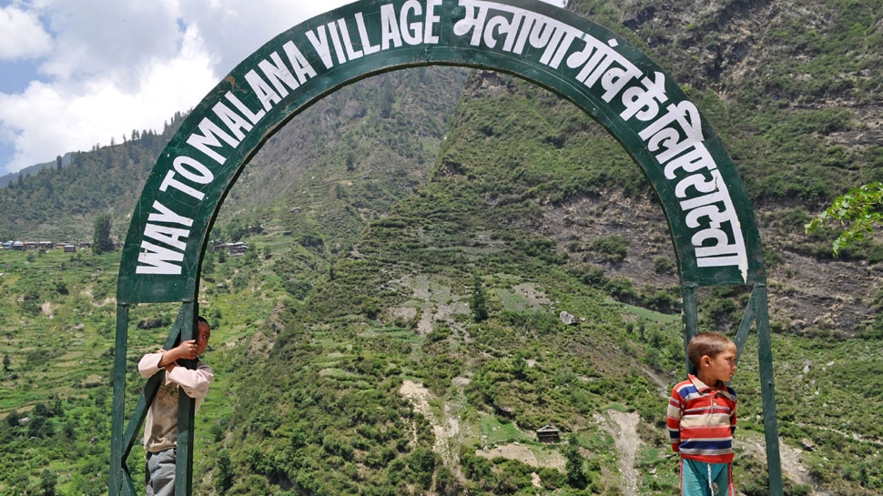 Malana village is reached by climbing 4 hours on foot