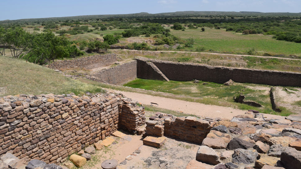 Remains of Harappa and Indus Valley Civilization in Dholavira