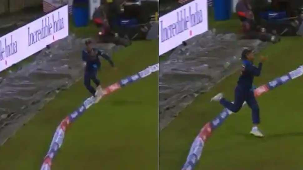 Rahul Chahar ने Boundary पर लपका हैरतअंगेज Catch, बल्लेबाज भी रह गया हैरान
