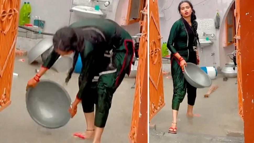 बारिश से घर में भरा पानी तो महिला ने किया ऐसा, लोग बोले- Video बनाना जरूरी था क्या?