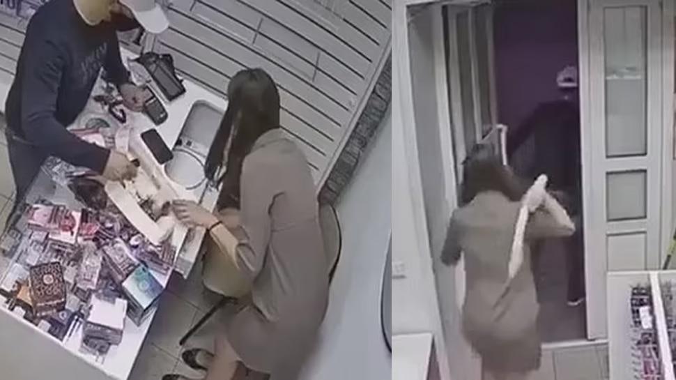 Shop लूटने पहुंचे शख्स के Female Cashier ने छुड़ाए पसीने, Sex Toy से इस कदर की पिटाई, जान बचाकर भागना पड़ा