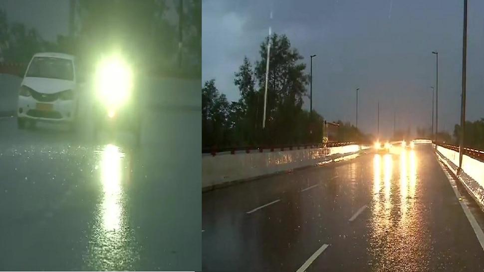 रविवार सुबह से ही दिल्ली-NCR में झमाझम बारिश से मौसम हुआ सुहाना, IMD ने दी ये चेतावनी