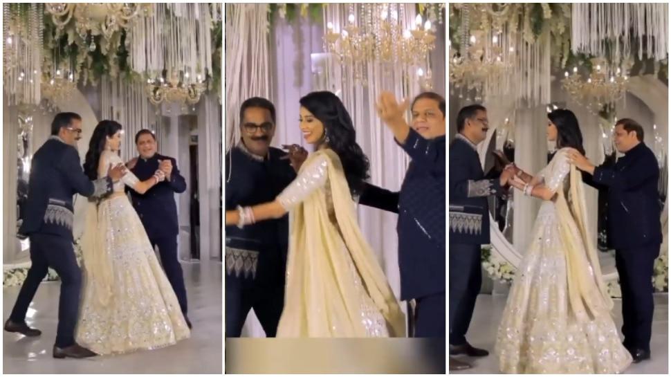 Bride Video: दुल्हन ने पापा और ससुर के साथ किया डांस, वीडियो देख बन जाएगा दिन