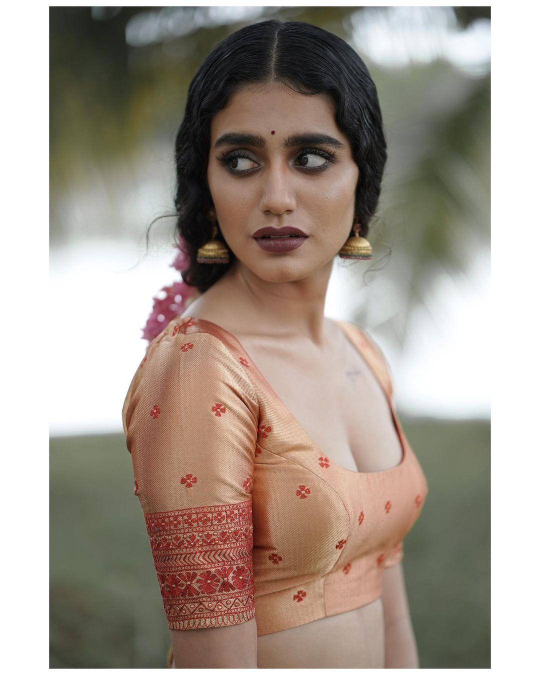 Priya Prakash Varrier lehanga shoot