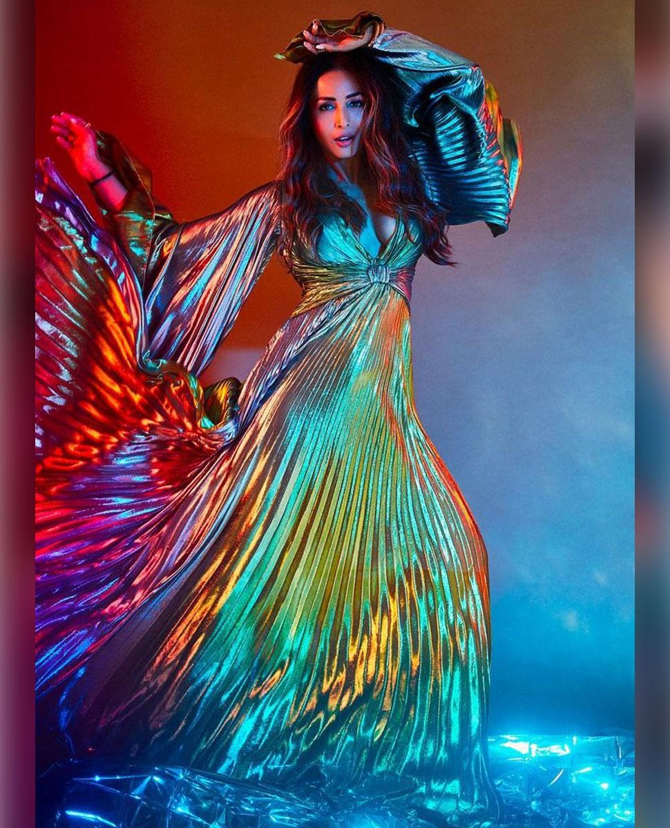Malaika Arora In Metallic Dress