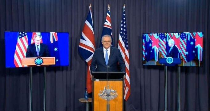 हिंद प्रशांत के लिए ब्रिटेन, अमेरिका व ऑस्ट्रेलिया आए साथ, AUKUS गठबंधन की घोषणा की