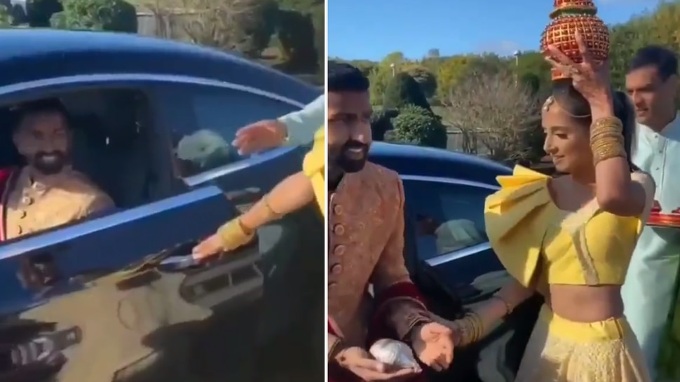 जीजू की एंट्री पर साली ने किया ऐसा धांसू वेलकम, कार से उतरते ही किया कुछ ऐसा- देखें Video