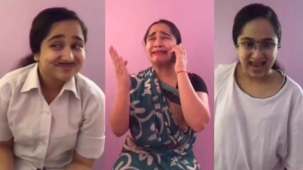 तारक मेहता के 3 किरदारों को अकेले रिप्लेस कर सकती है ये लड़की, यकीन न हो तो देख लें वीडियो