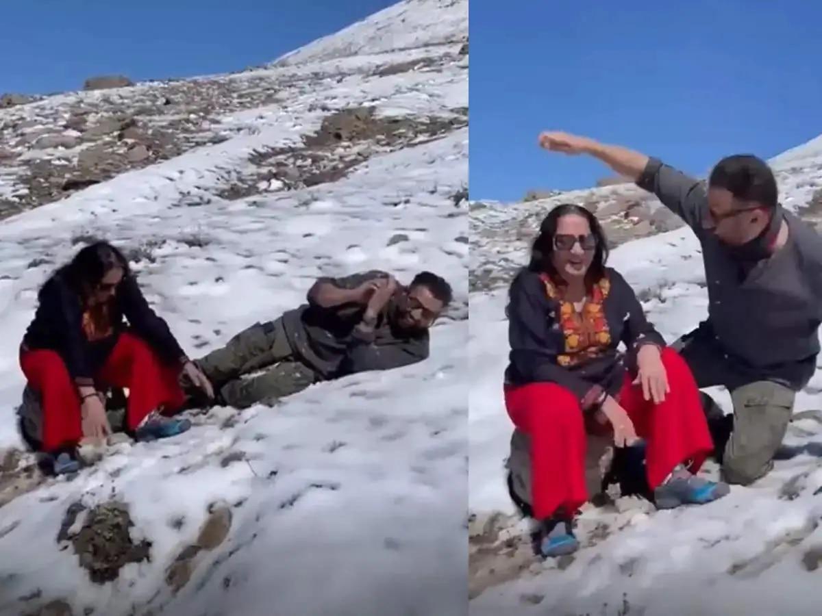 मां के साथ पहाड़ों में बर्फ से खेलते नजर आए Sunny Deol, देखें खूबसूरत वीडियो