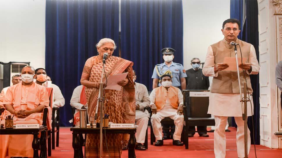 UP Cabinet Expansion: जितिन प्रसाद समेत सात नए मंत्रियों को दिलाई गई शपथ
