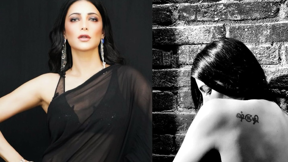 Shruti Haasan Shared Photo Of Her Tattoo and gone topless |  Shruti Haasan went topless to show off her tattoo
