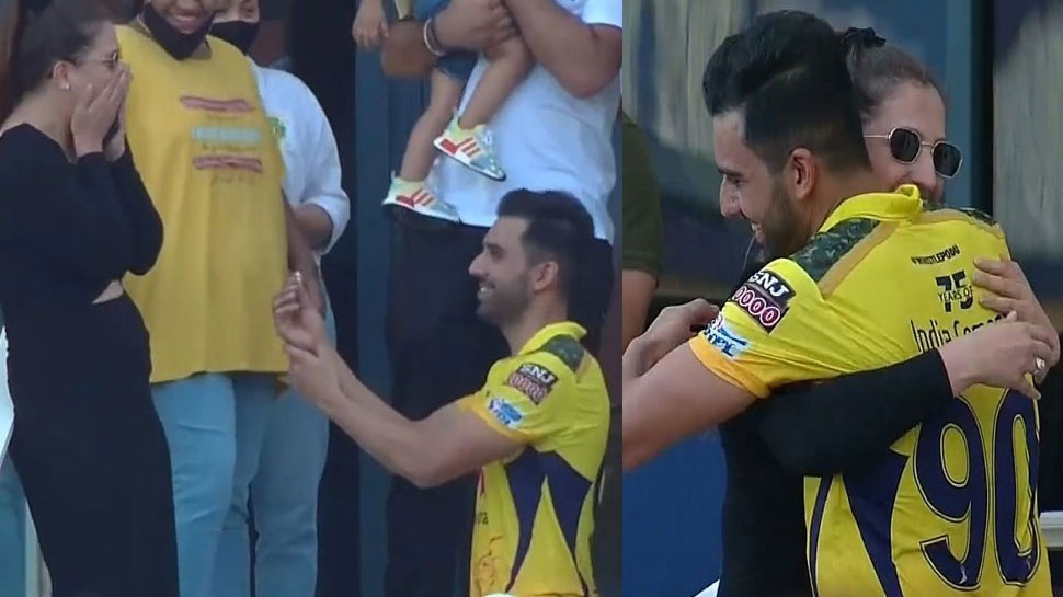 IPL 2021: Deepak Chahar proposed his girlfriend in stands after the match against Punjab Kings  