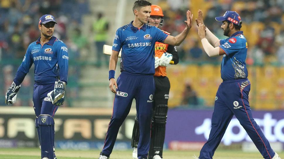 IPL 2021 SRH vs MI Live Cricket score updates, Abu Dhabi, Sunrisers Hyderabad, Mumbai Indians, Rohit Sharna, Kane Williamson |  IPL 2021 SRH vs MI: Mumbai lost even after winning against Hyderabad, Rohit's army out of playoff race