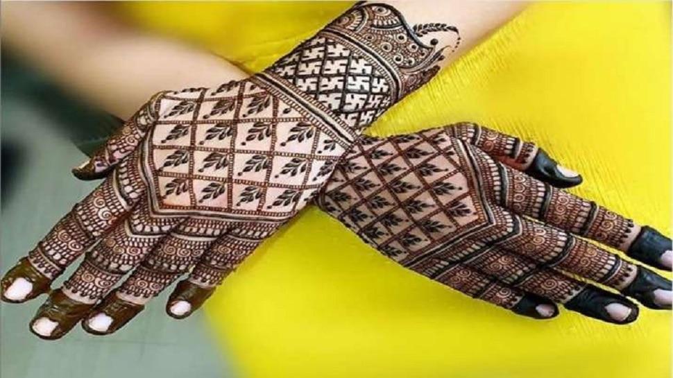 Mehndi Design on Karwa Chauth: हाथों पर झटपट लगाएं ये आसान लेटेस्ट मेहंदी डिजाइन, देखें Mehndi Design Picture
