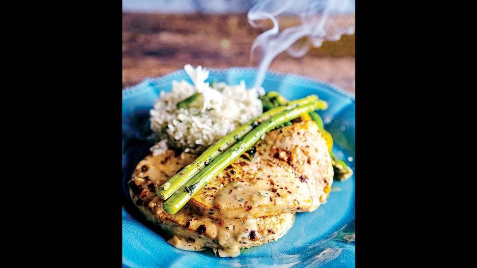 Cottage Cheese Steak with Lemon Paprika Sauce