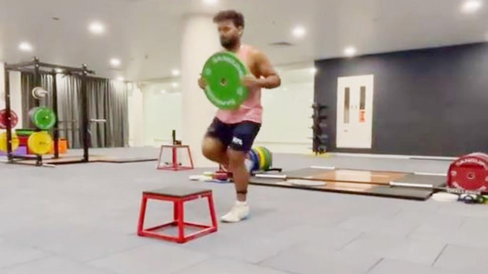 Rishabh Pant Training At Gym