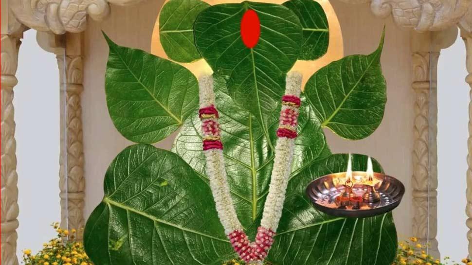 Lord ganesha idol made by neem