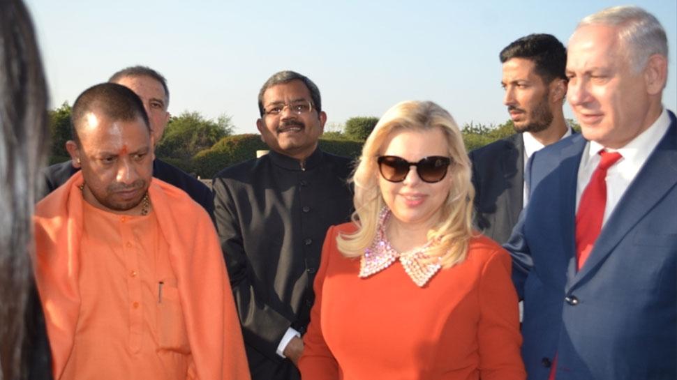 Israeli Prime Minister Benjamin Netanyahu and his Wife Sara Visit Taj Mahal