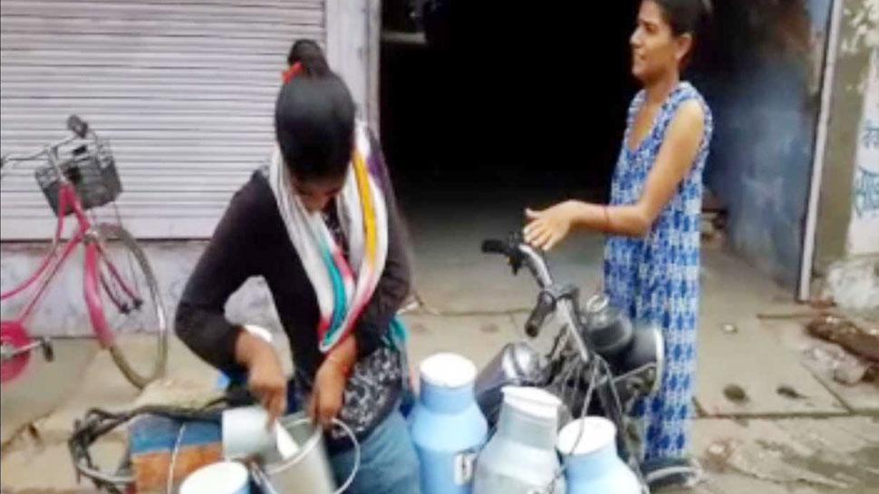 Bharatpur Girl selling milk