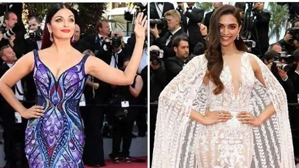 aishwarya rai and deepika at cannes