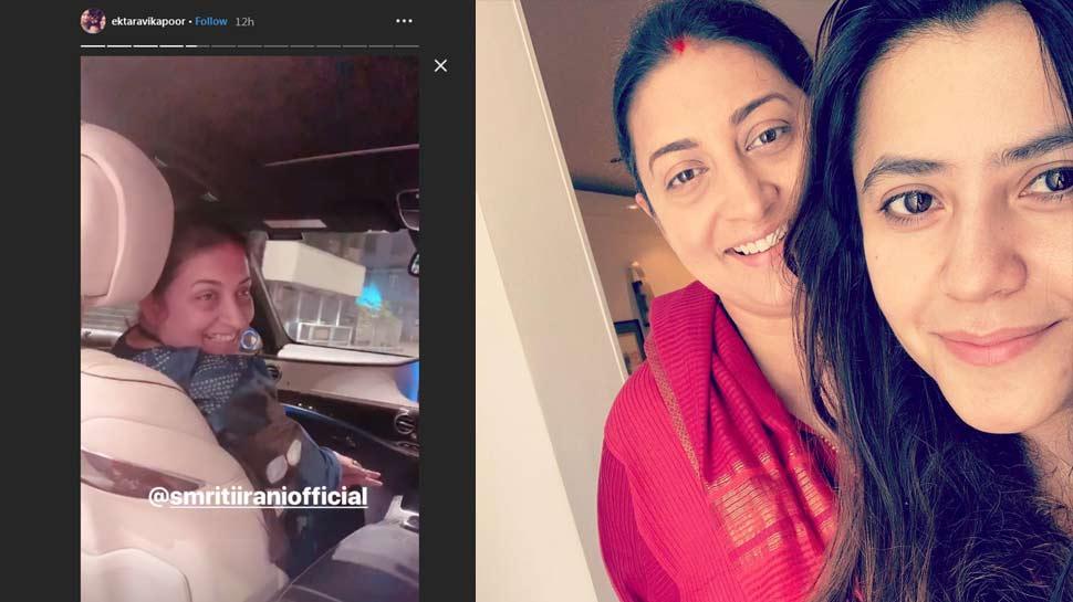 Smriti Irani handled her four-month-old son Ravie
