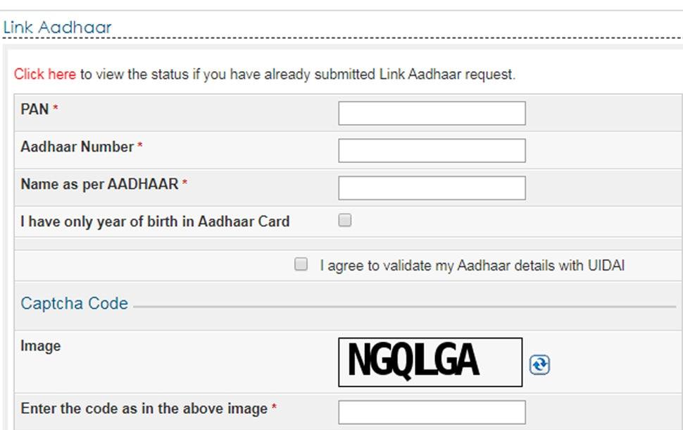 आधार, Pan card, Aadhaar, PAN-Aadhaar link