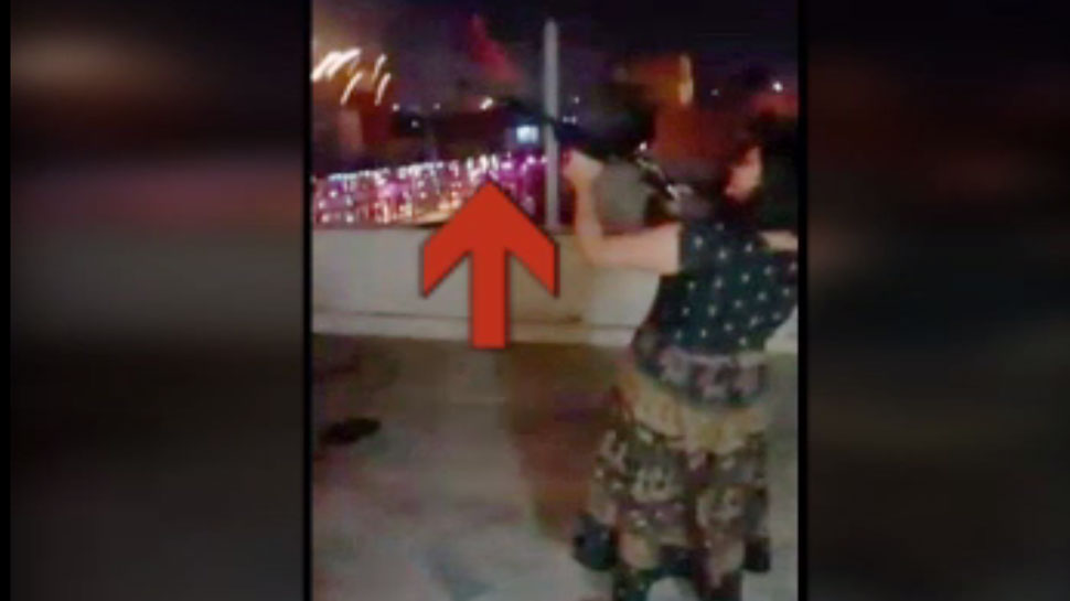 video viral of SP leader minor daughter who is Firing with rifle and pistol in Jhansi