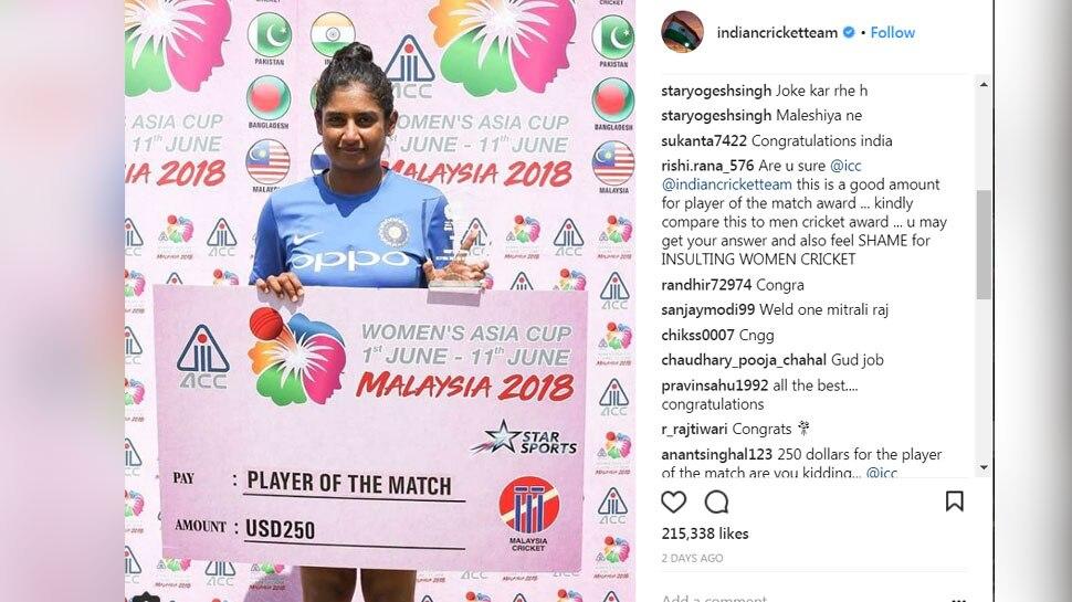 Mithali Raj player of the match