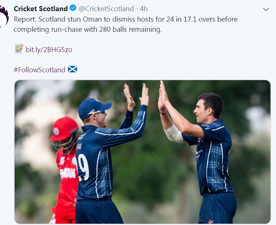 scotland cricket