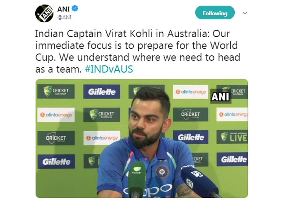 Virat before Sydney ODI