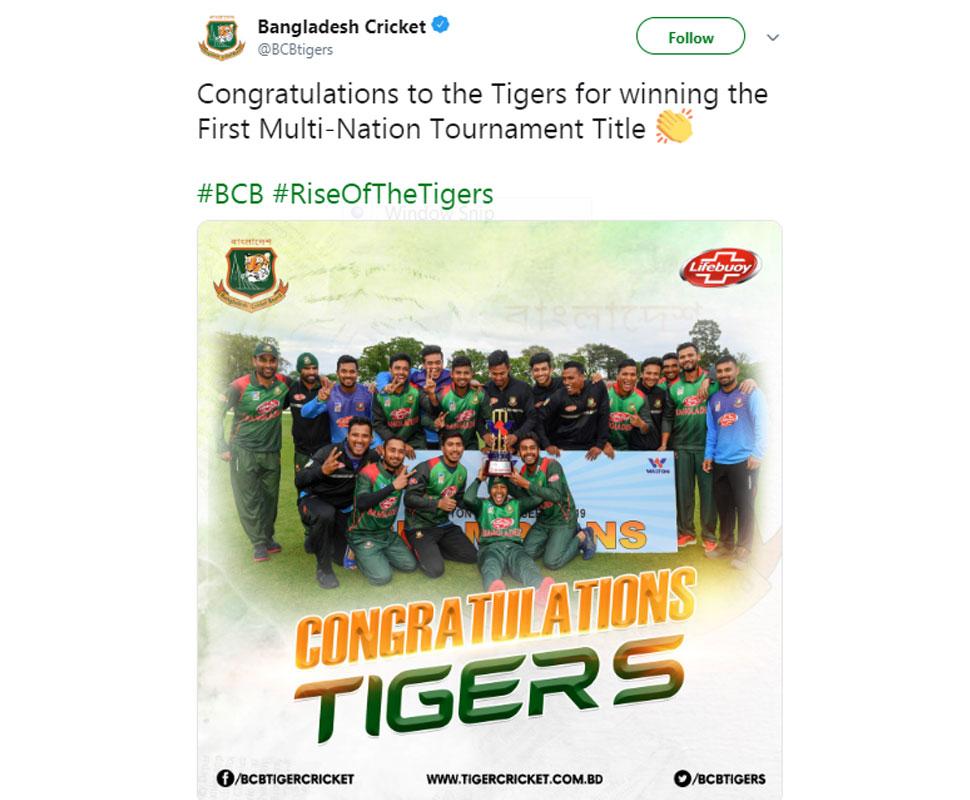 Bangladesh Wins Tri Series