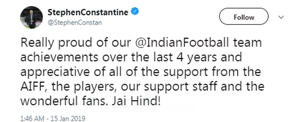 Constantine thanks tweet