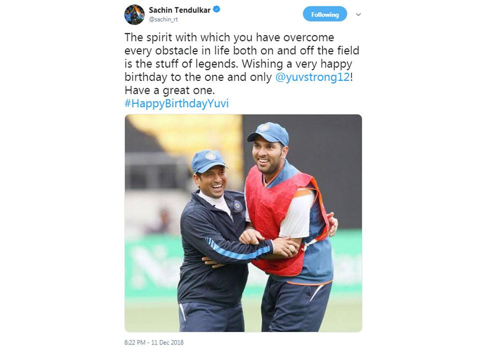 Sachin wishes for Yuvi
