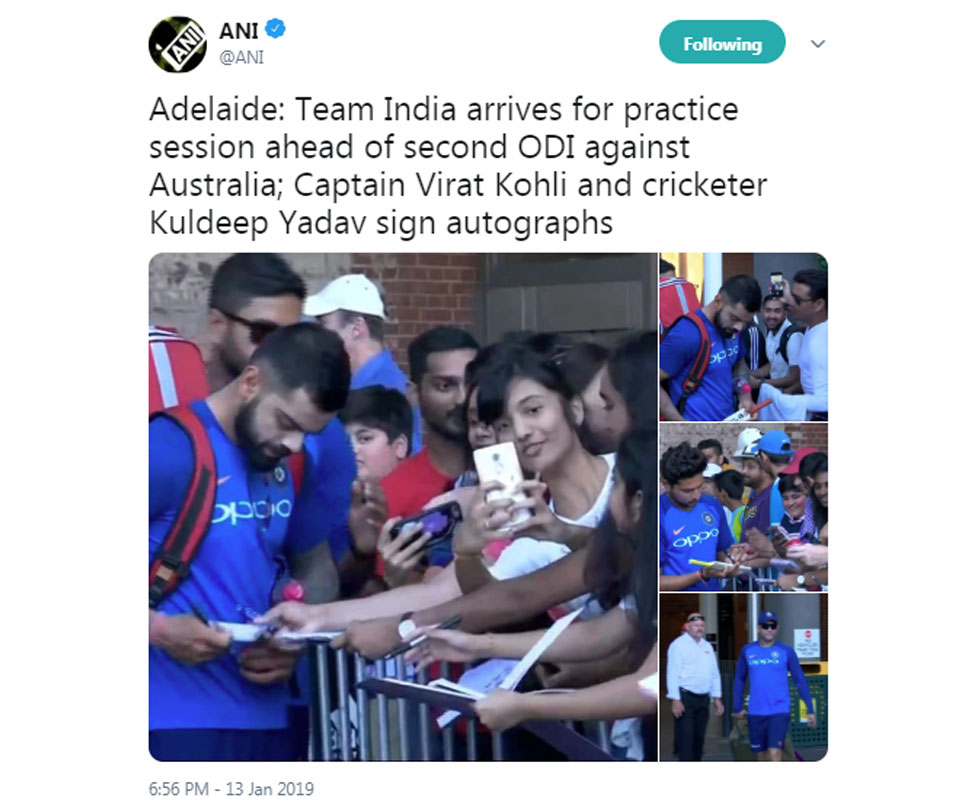 Female fans surrounds virat kohli