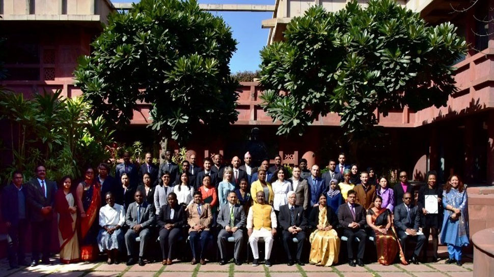 om birla attend international legislative drafting training in delhi