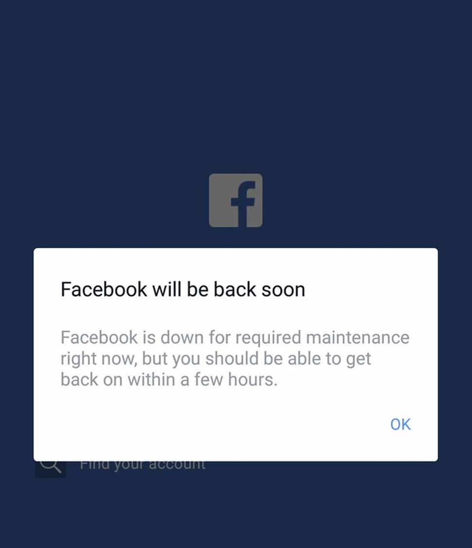 फेसबुक, #FacebookDown, #InstagramDown, Facebook, Instagram