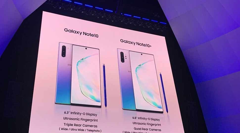सैमसंग गैलेक्सी नोट 10, Samsung Galaxy Note 10, Galaxy Note 10+, samsung