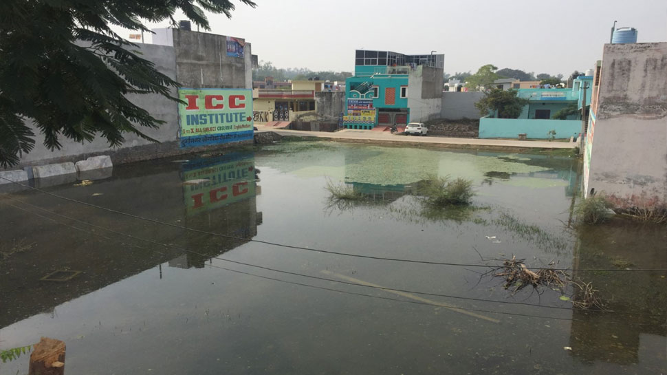 water logging without rain in colonies of kota rajasthan