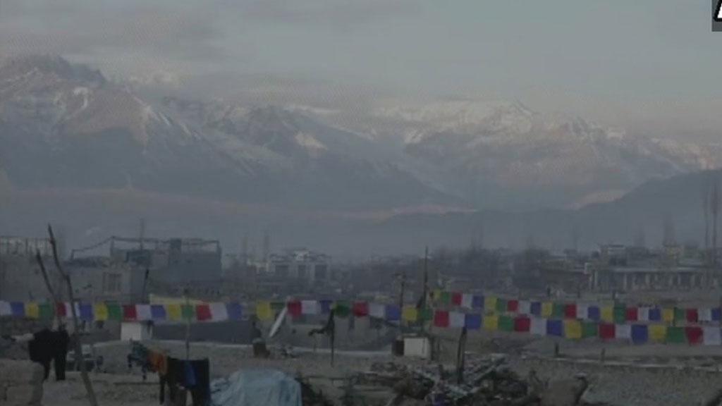 कश्मीर के लद्दाख में तापमान माइनस 17
