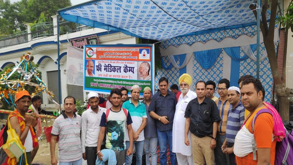 Muzaffarnagar: Camps organized by Muslims for the service of Shivbakat kawadiya