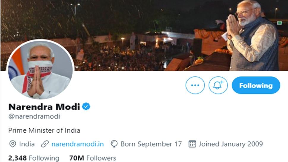 Narendra Modi followers on twitter
