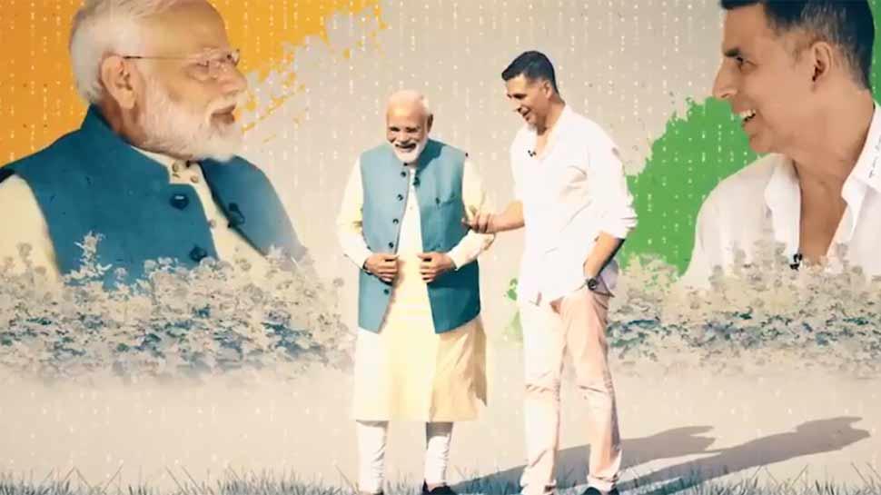 नरेंद्र मोदी, modi with Akshay, Narendra Modi, Akshay Kumar, pm modi bank balance, Lok Sabha elections 2019