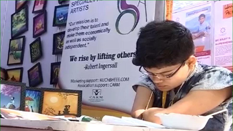 unique and disabled painter mohini jaipur literature festival