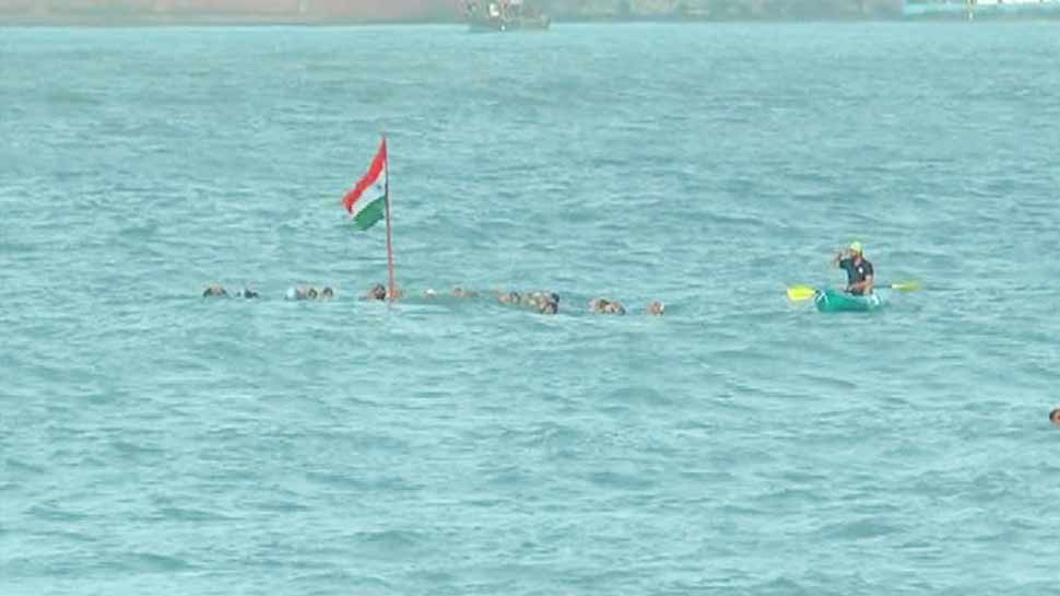 Indian Flag in Sea